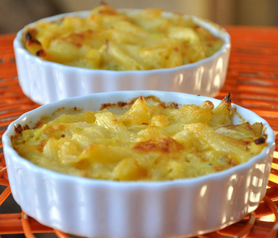 Cheddar Leek Mac and Cheese