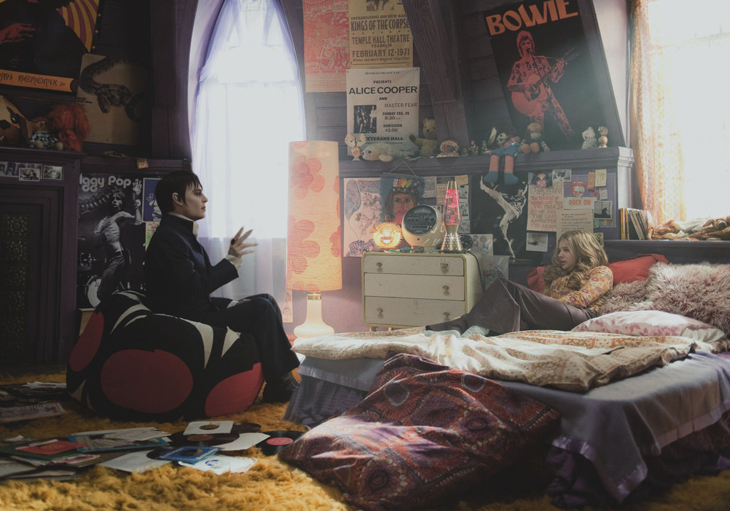 Chloë Grace Moretz as Carolyn Stoddard, and Johnny Depp as Barnabus Collins in Dark Shadows.  Photo courtesy of Warner Bros.