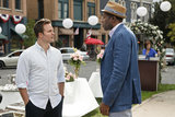 Scott Porter as George and Cress Williams as Lavon on Hart of Dixie. Photo courtesy of The CW