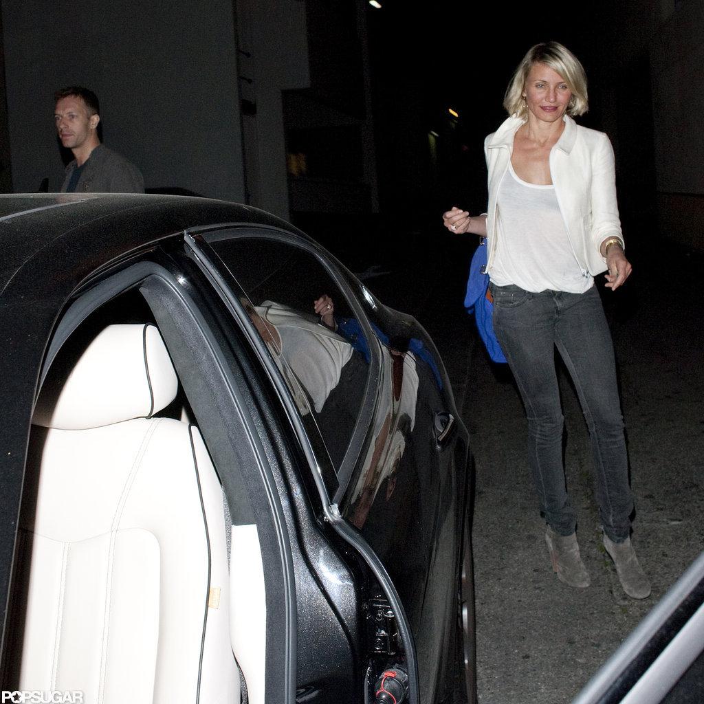Chris Martin and Cameron Diaz hopped in their car.