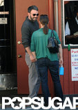 Ben Affleck laughed with wife Jennifer Garner as they ran errands together in LA.