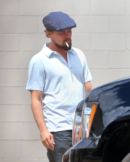 Leonardo DiCaprio smoked a cigarette on the set of Django Unchained.