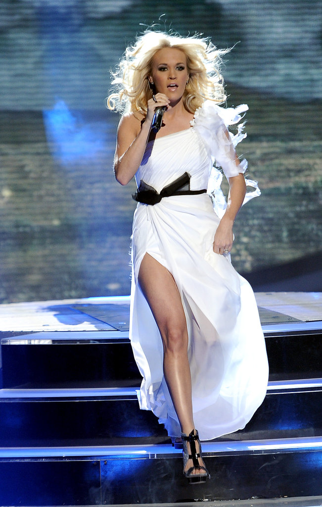 Carrie Underwood sang on American Idol.