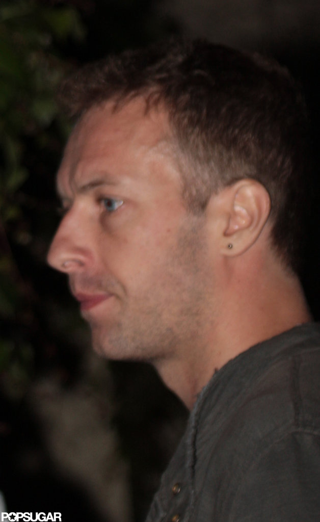 Chris Martin wore an earring.