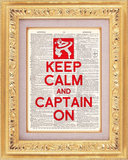 Keep Calm and Captain On Print