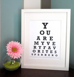 Superhero Eye Chart Print ($7)