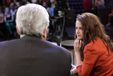 Kristen Stewart Brings Her Latest Injury and Flat Shoes to Leno