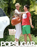 Katherine Heigl went over to a friend's house with her newly adopted daughter in LA.