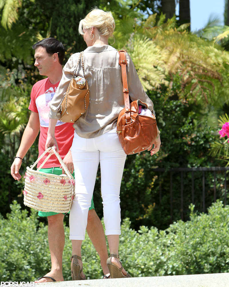katherine heigl took her newly adopted daughter to meet a