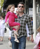 Ben Affleck held Seraphina Affleck during a shopping trip in LA.
