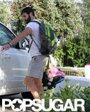 Josh Kelley carried his daughter out of a friend's house in LA.