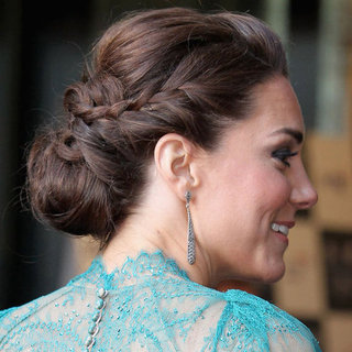 Kate Middleton Wears a Braided Bun Up 'Do