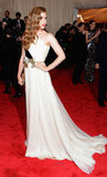 Amy Adams looked fresh in the white Giambattista Valli Couture gown she wore to the 2012 Met Gala.