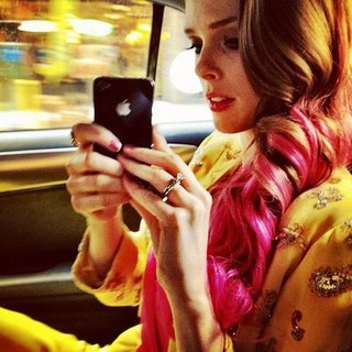 Coco Rocha Pink Hair at Met Gala 2012
