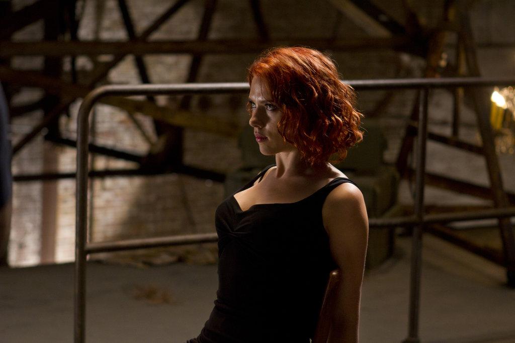Scarlett Johansson as Black Widow in The Avengers. Photo courtesy of Disney