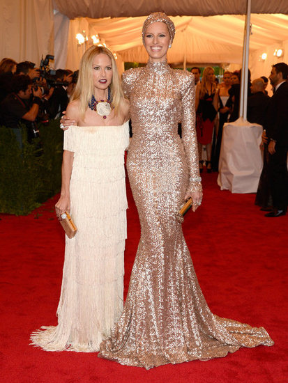 Karolina Kurkova posed with Rachel Zoe on the red carpet at the Met Gala.