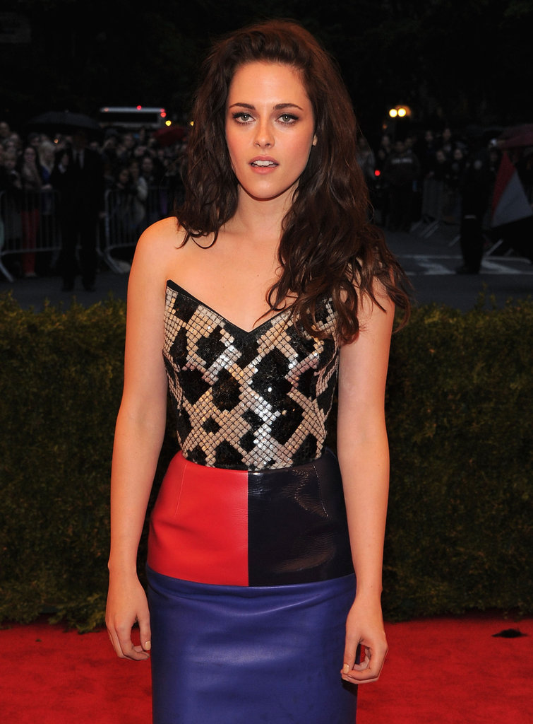 Kristen Stewart at the Met Ball 2012.