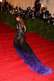 Beyoncé Knowles climbed the stairs wearing Givenchy at the Met Gala.
