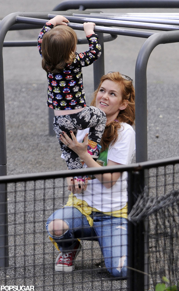 Isla Fisher took Elula to a playground in Central Park.