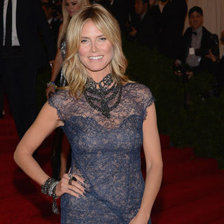 Heidi Klum Met Gala Escada Dress Pictures 2012