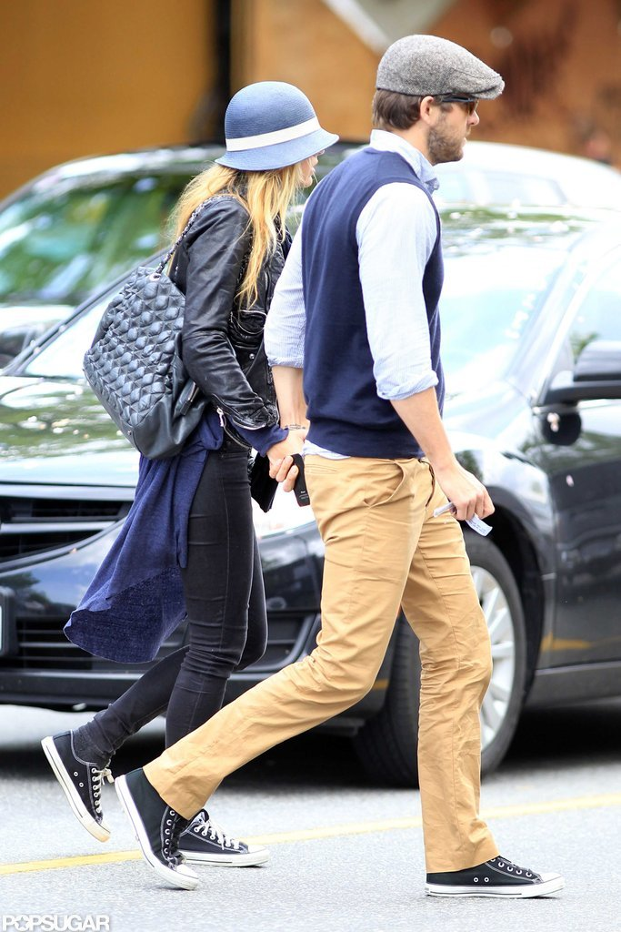 Blake Lively and Ryan Reynolds held hands in Vancouver.