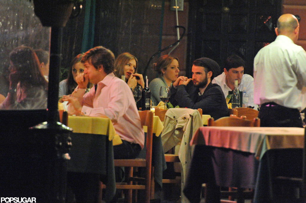 Sienna Miller and Tom Sturridge had dinner together while vacationing in Italy.