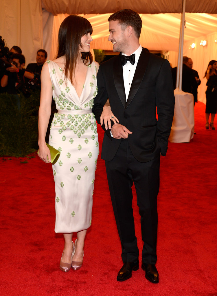 Jessica Biel and Justin Timberlake made a cute couple on the red carpet of the Met Gala together.