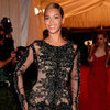 Beyonce in See-Through Feathered Givenchy at 2012 Met Gala