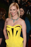 January Jones Rocks Bright Yellow to the Met Ball