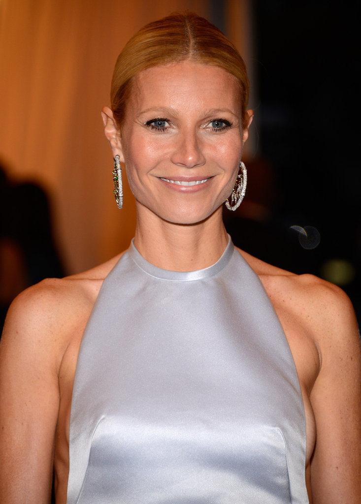 Gwyneth Paltrow wore large hoop earrings for the Met Gala.