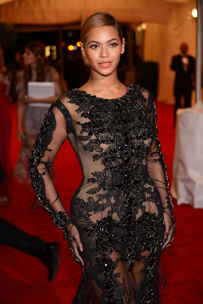 Beyoncé Knowles wore a design by Givenchy for the Met Gala.