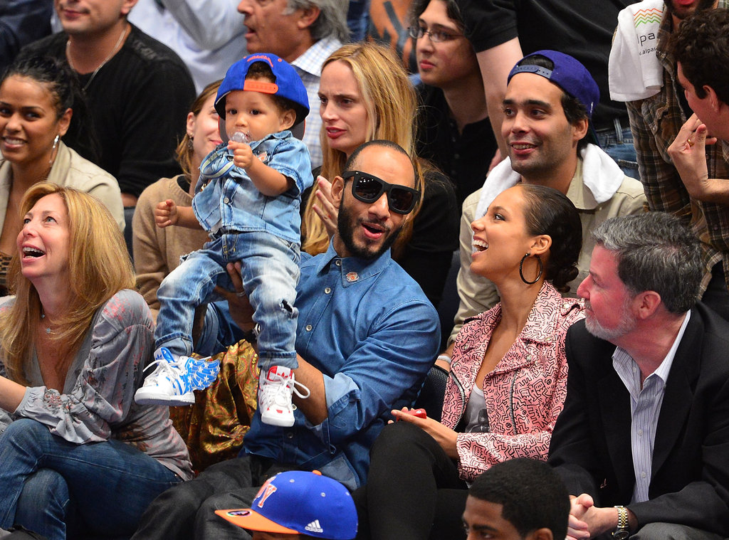 Alicia Keys was full of laughs during the game.