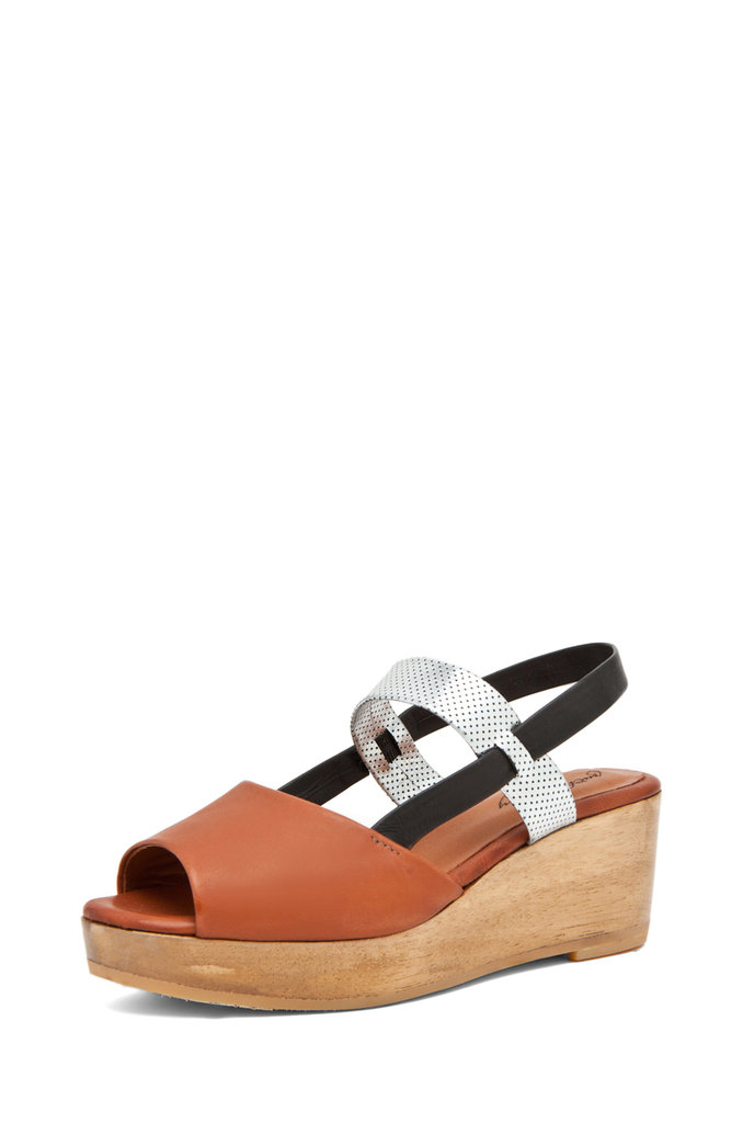 How great are these two — no, three — toned flatforms? They'd look great with a tank dress.  Rachel Comey Kinta Sandals ($385)