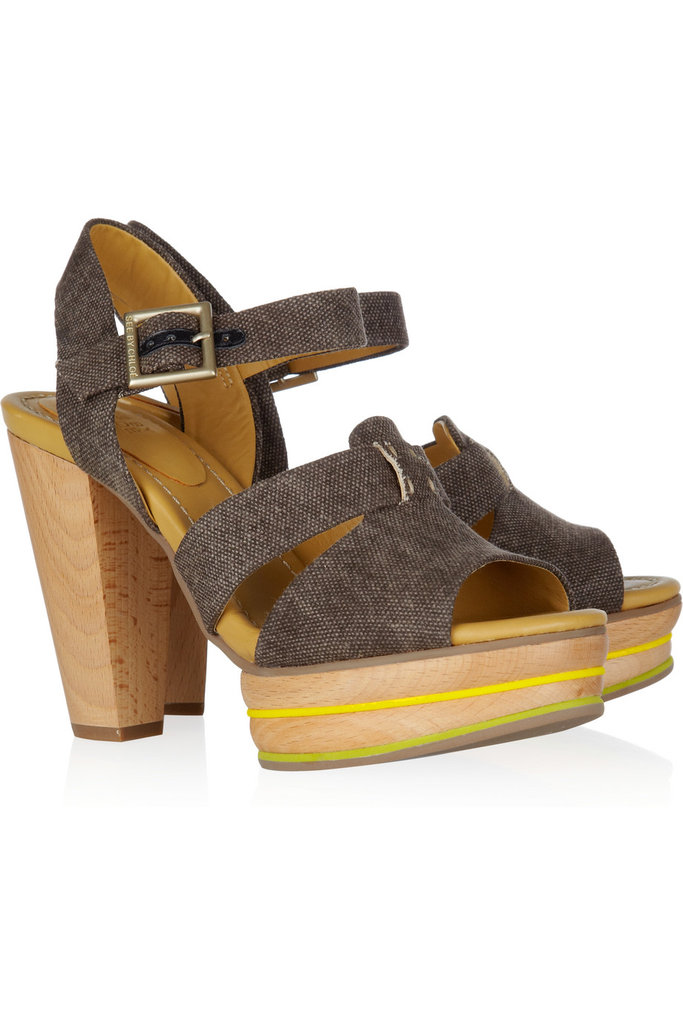 The best thing about these heels? The tweed straps are multiseasonal enough to take you right into Fall.  See by Chloé Tweed and Leather Sandals ($365)