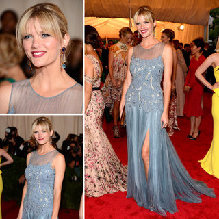 Pictures of Brooklyn Decker in Blue Tory Burch Dress on the Red Carpet at the 2012 Met Costume Institue Gala