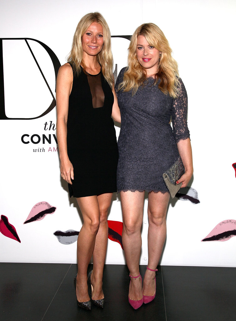 Gwyneth Paltrow joined The Conversation hostess Amanda de Cadenet in an LBD from Diane von Furstenberg's Fall '12 collection.