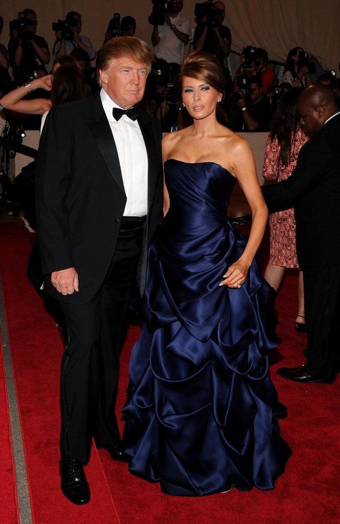 Donald Trump and Melania Knauss in 2010
