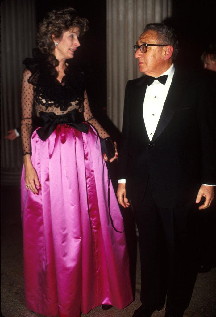 Nancy and Henry Kissinger in 1990