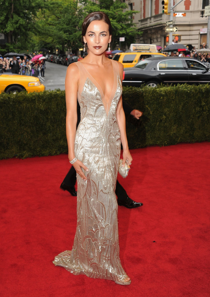 Camilla Belle Turns Heads in Plunging Ralph Lauren at Met Gala