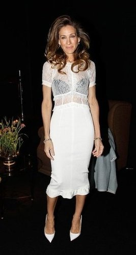 Sarah Jessica Parker's Black Bra &White Lace Blouse: Love It or Hate It?