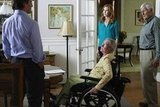 Scott Bakula as Trip, Kathryn Joosten as Karen, Marcia Cross as Bree, and Orson Bean as Roy on Desperate Housewives. Photo courtesy of ABC