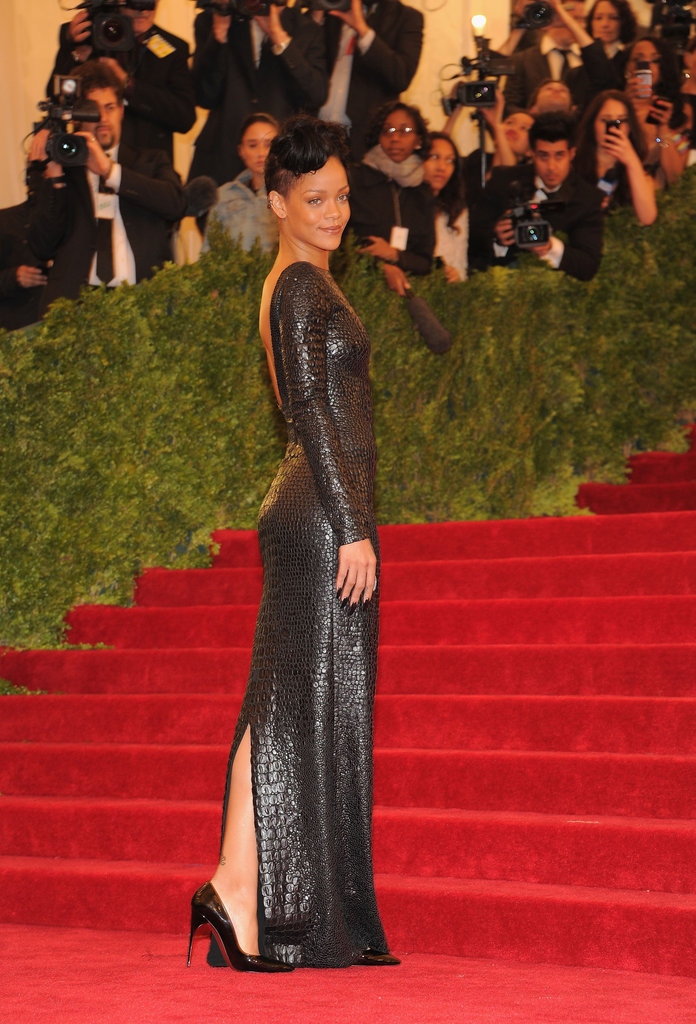 Rihanna had all eyes on her in a crocodile Tom Ford gown.
