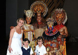 Britney Spears took her little guys, Sean Preston and Jayden James Federline, to see The Lion King in Las Vegas in April 2011.