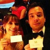 Ben Stiller captured a photo of his friends Rashida Jones and Jimmy Fallon. Source: Twitter User RedHourBen