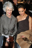 Katie Holmes and her mother Kathleen took in the Max Mara runway show together during Milan Fashion Week in 2011.