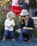 Amy Adams and her daughter, Aviana Le Gallo, had fun playing with rocks together during an LA shopping trip in December 2011.