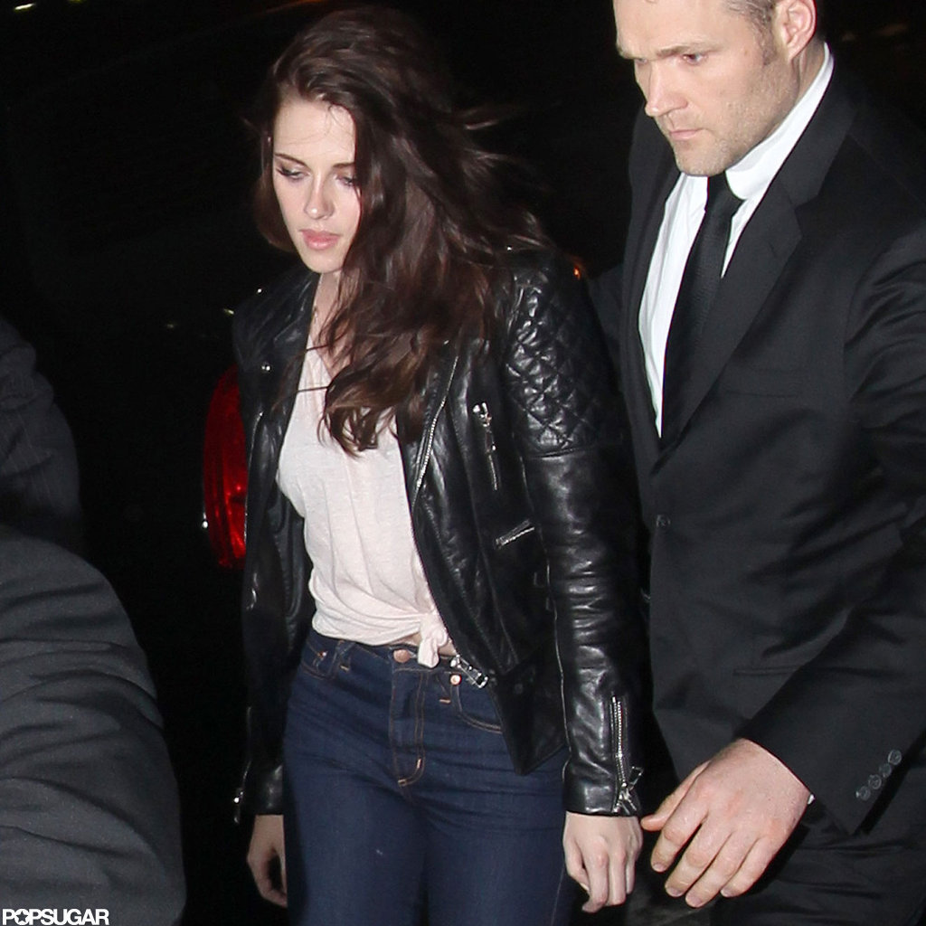 Kristen Stewart Trades Her Balenciaga Dress For Jeans and a Tee Post Met Gala