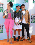 Jada Pinkett Smith joined her superstylish kids, Willow and Jaden Smith, on the orange carpet at the Kids' Choice Awards in LA in March 2012.