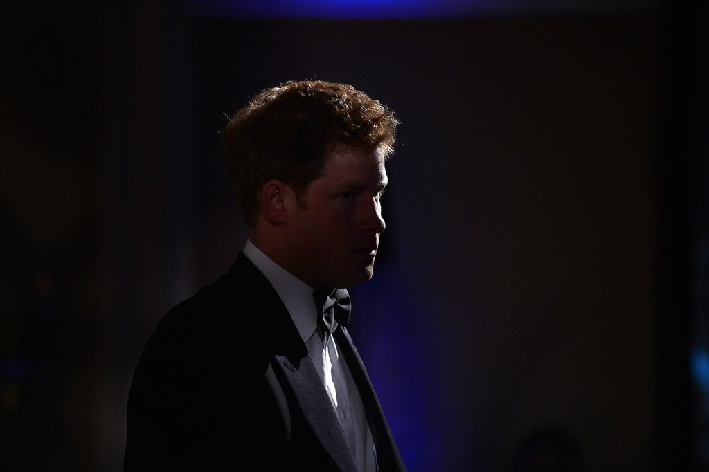 Prince Harry wore a tux in Washington DC to accept the Distinguished Humanitarian Leadership Award.