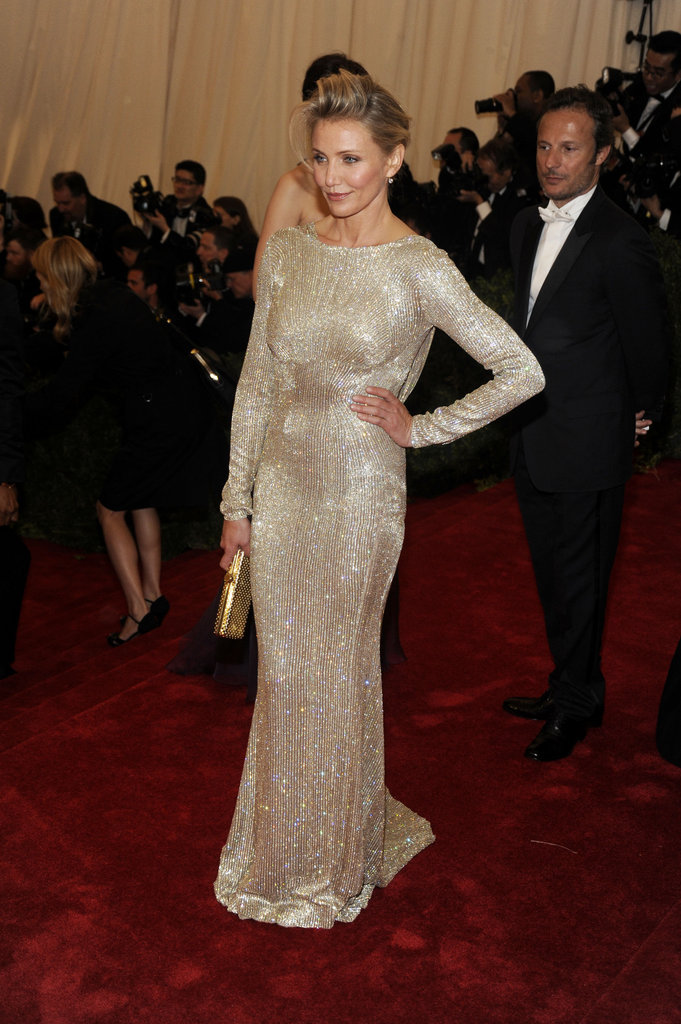 Cameron Diaz wore Stella McCartney to the Met Gala.